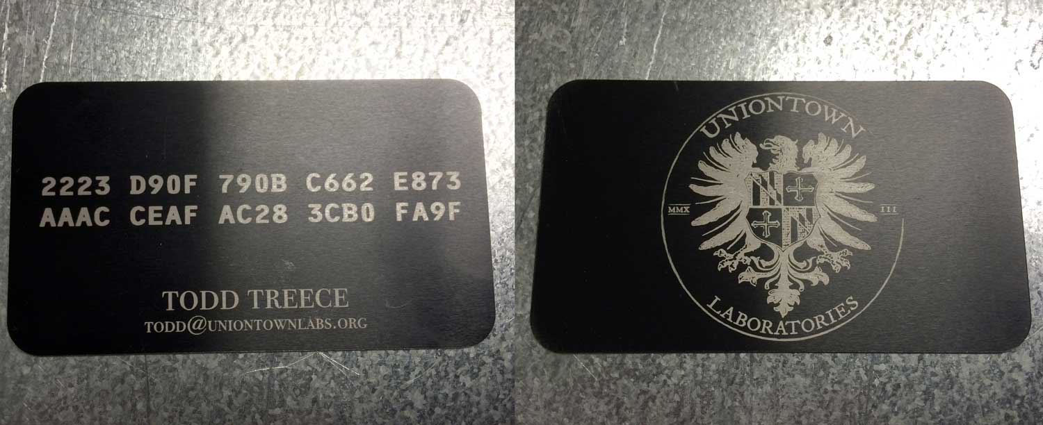 GPG Fingerprint Card